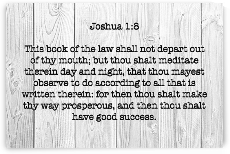 Joshua 1 8 WD3 by Scripture on the Walls