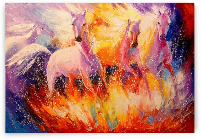 Fire horses by Olha Darchuk