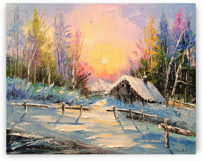 Winter sunset by Olha Darchuk