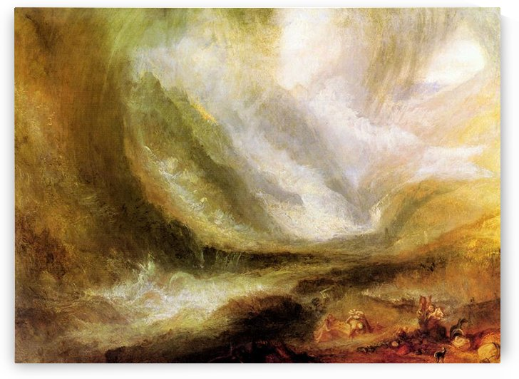 Snowstorm and avalanche by Joseph Mallord Turner by Joseph Mallord Turner