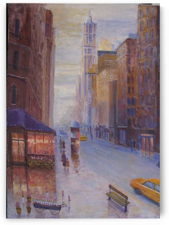 On Broadway 28x20in acrylic on canvas by paunovicart