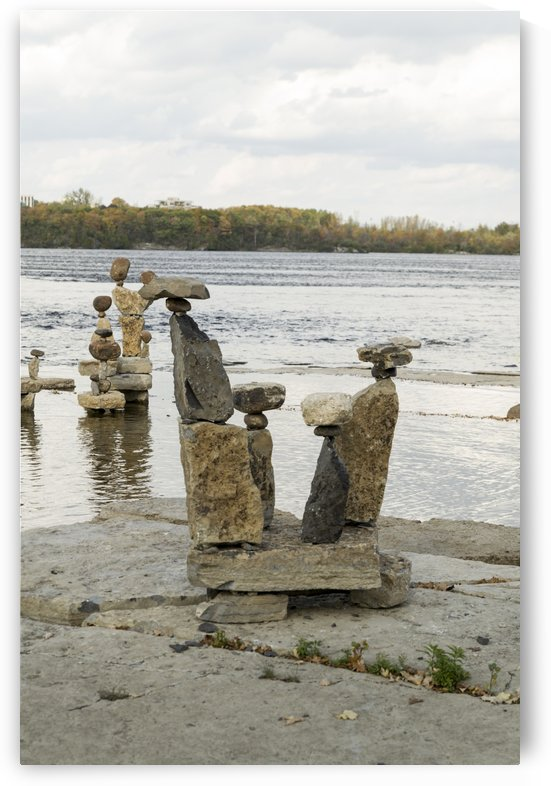 2017 Inukshuks at Remics Rapids 46 by Bob Corson