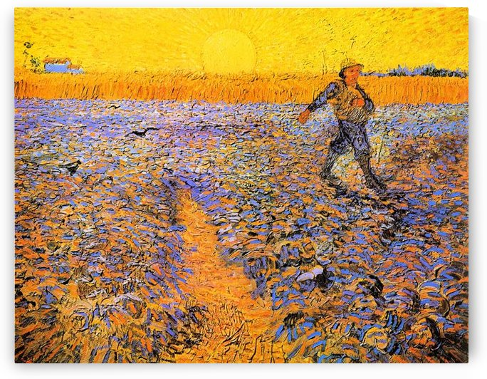 Sower under the Sun by Van Gogh by Van Gogh