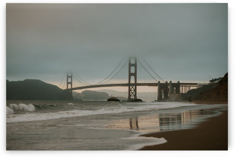 Golden Gate in the smog by StephanieAllard