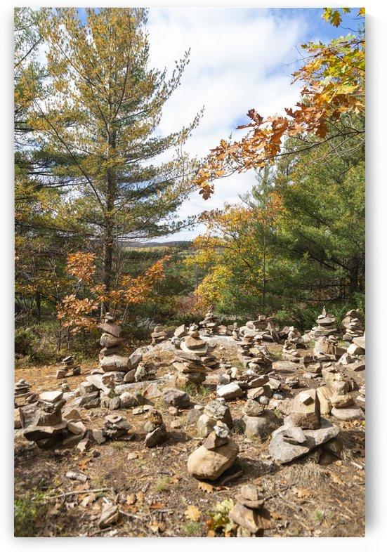 Eagle Nest Trail Inukshuks by Bob Corson