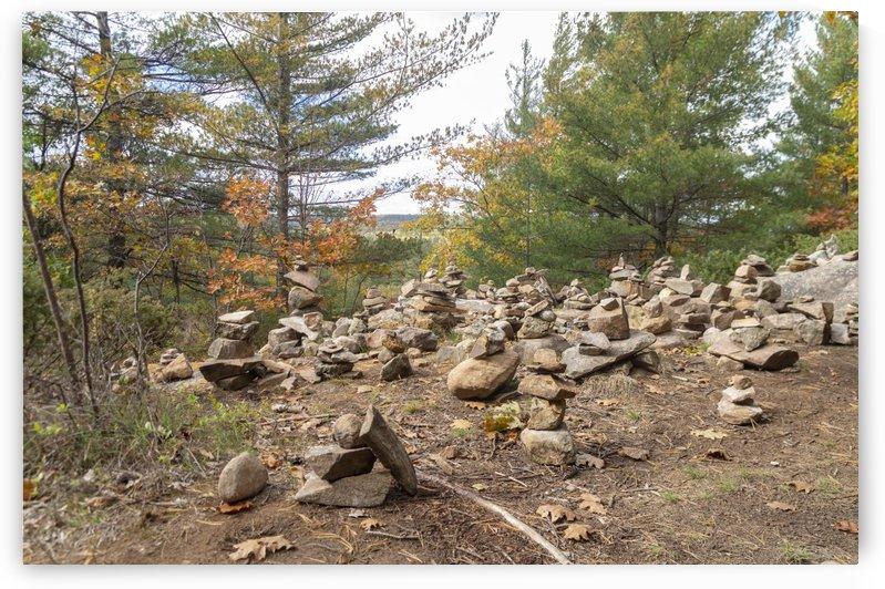 Eagle Nest Trail Inukshuks 4 by Bob Corson