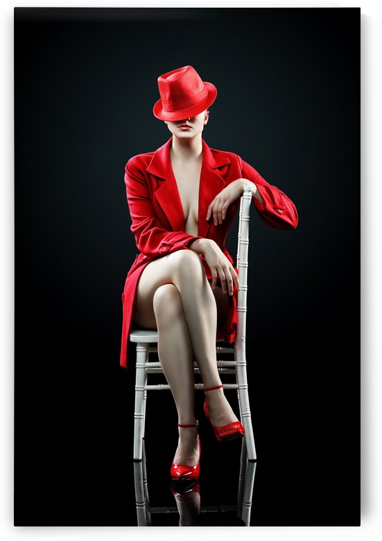 Woman in red by Johan Swanepoel