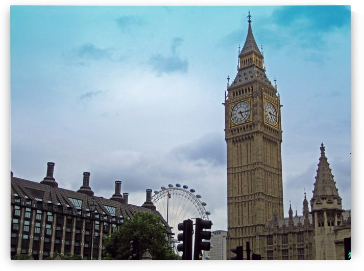 Big Ben and London Eye by Gods Eye Candy