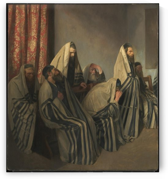 Jews morning by William Rothenstein