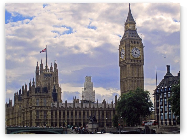 Big Ben and Westminster Abbey by Gods Eye Candy
