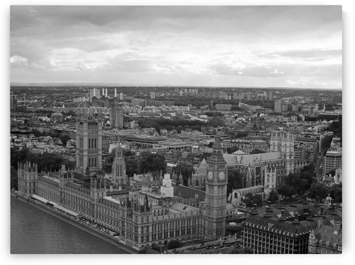 View from The London Eye B&W by Gods Eye Candy
