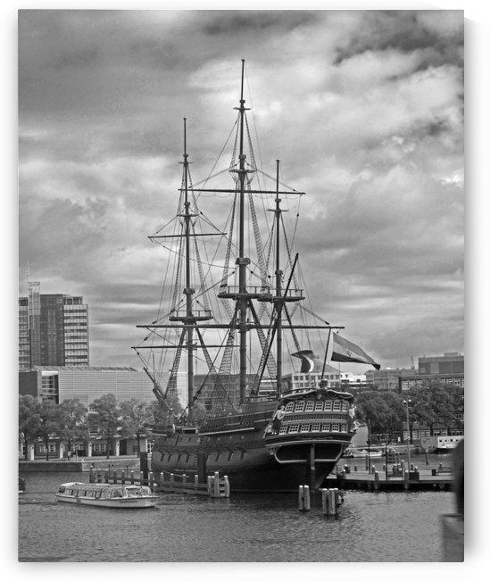 Sailing Amsterdam B&W by Gods Eye Candy