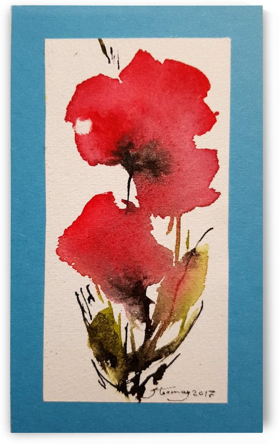 Watercolor Flower by JAMALEDDIN TOOMAJNIA
