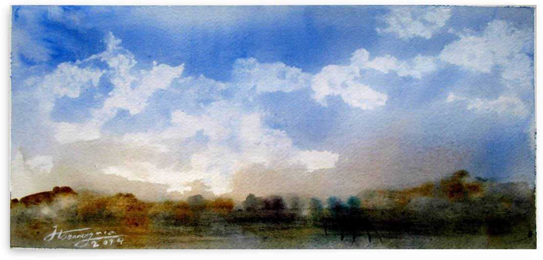 Watercolor Lanscape by JAMALEDDIN TOOMAJNIA