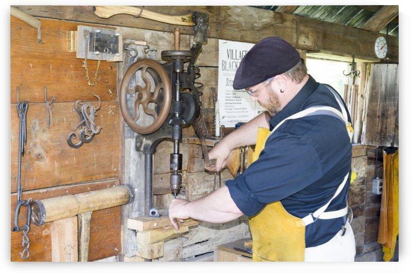 Blacksmith at work by Bob Corson