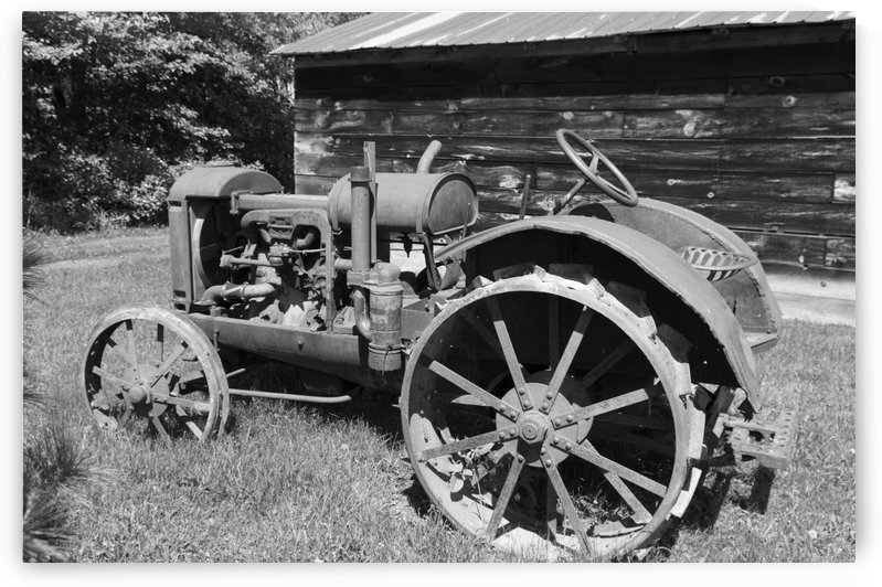 McCormick-Deering gasoline tractor 2 B&W by Bob Corson
