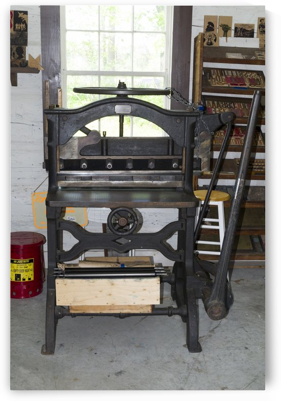 Print shop paper cutter by Bob Corson