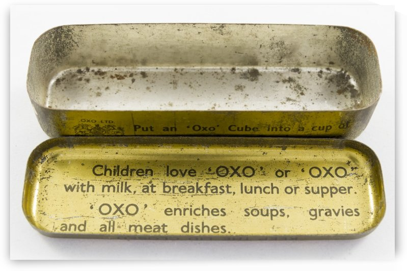 Vintage OXO boullion cube tin container 3 by Bob Corson