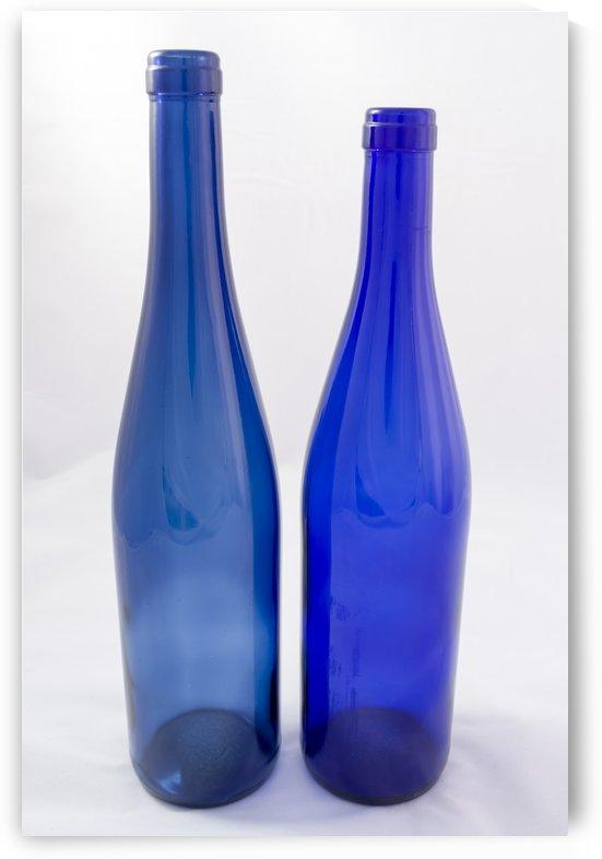 Antique Blue Glass Bottles 2 by Bob Corson
