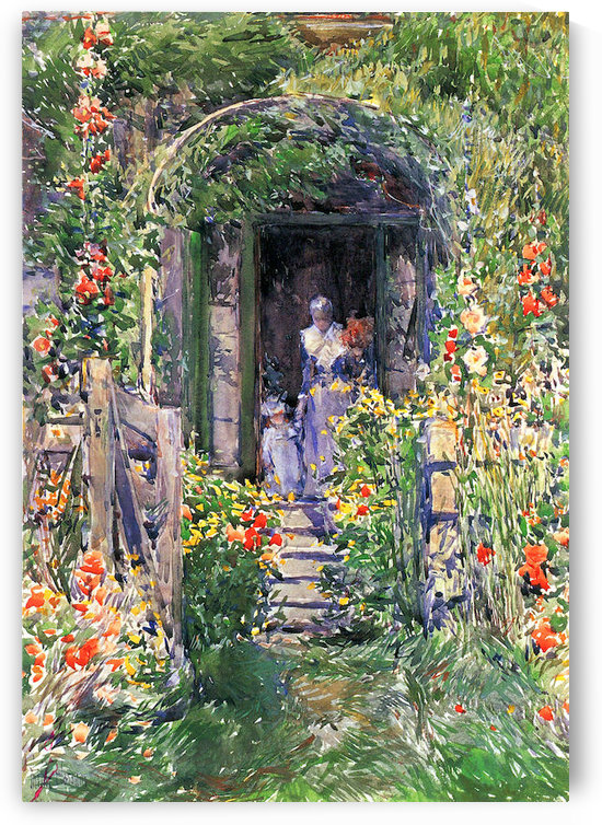 Isles of Shoals Garden by Hassam by Hassam