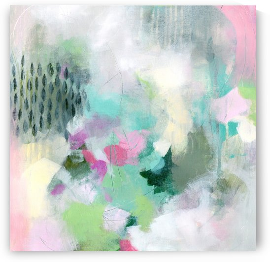 Pink and Green Abstract by Tracy-Ann Marrison