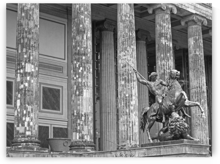 Statue of Atles Museum B&W by Gods Eye Candy
