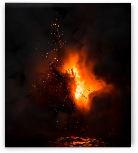 Lava explosion by Cullen Kamisugi