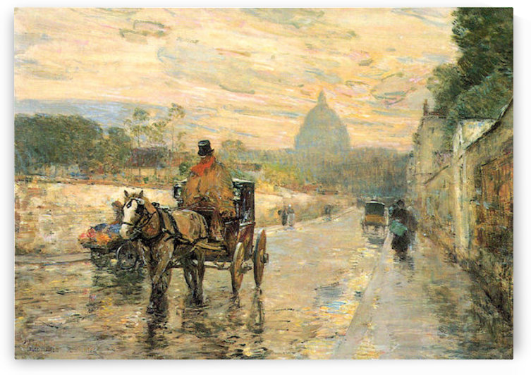 La Val de Grace, Spring Morning by Hassam by Hassam
