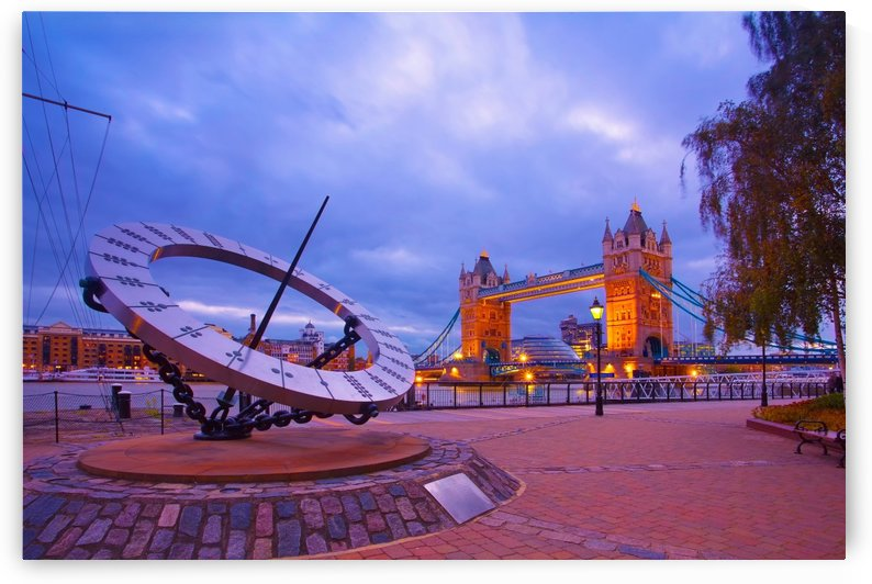 LON 017 Sundial and Tower Bridge  by Michael Walsh