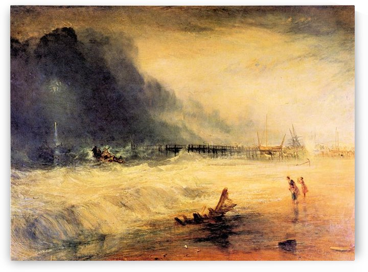Stranded ship by Joseph Mallord Turner by Joseph Mallord Turner