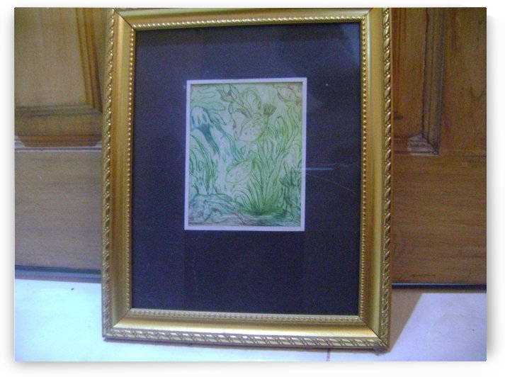 Wood Paintingwith frame nature 3 by Fatema Akhter