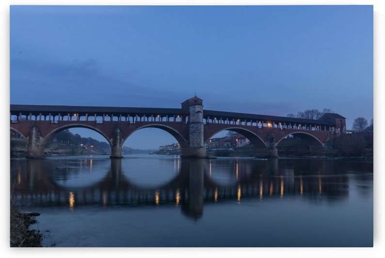 Pavia ponte coperto by Pietro Ebner