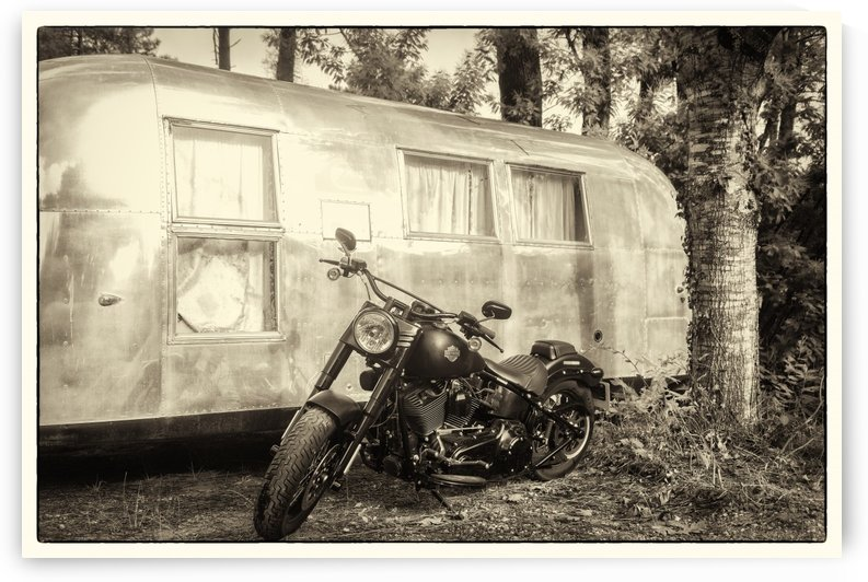 HARLEY AND AIRSTREAM by ANDREW LEVER GALLERY
