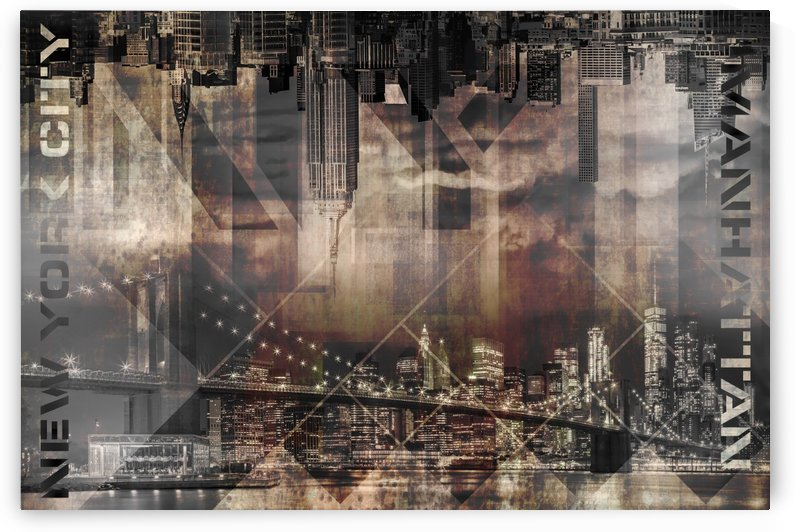 Modern Art MANHATTAN SKYLINES by Melanie Viola