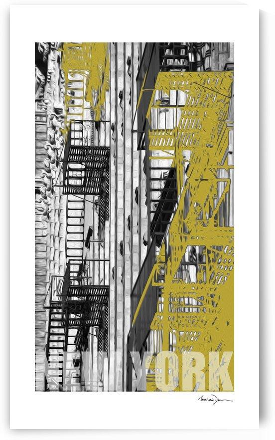 New York - Jaune by Jean-Louis Desrosiers