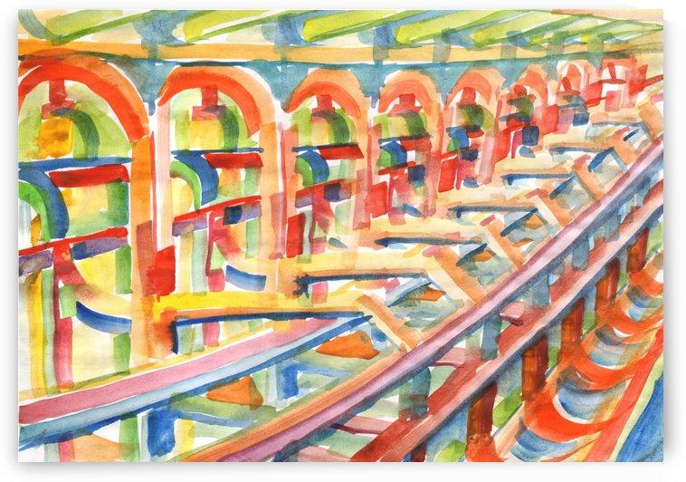 3D design perspective watercolor by Dobrotsvet Art