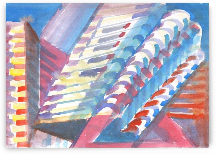 Watercolor skyscrapers by Dobrotsvet Art