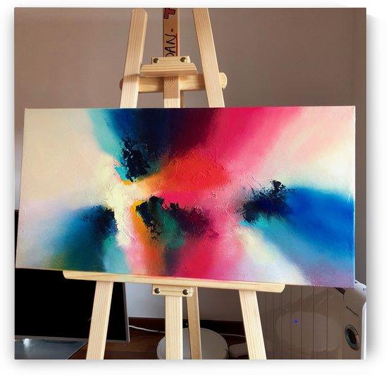 I had a perfect dream II 80x40 mixed media on canvas   2 by DanBunea