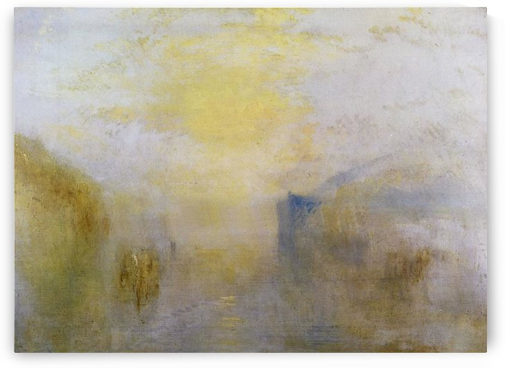 Sunrise, boat between headlands by Joseph Mallord Turner by Joseph Mallord Turner