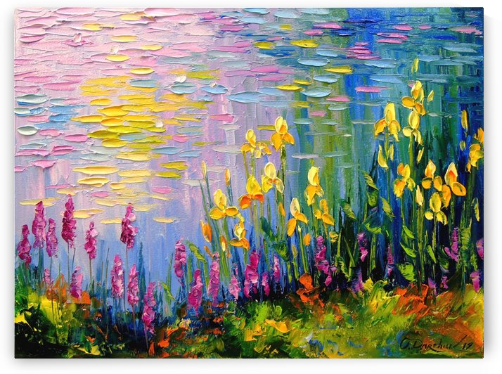 Flowers by the pond by Olha Darchuk