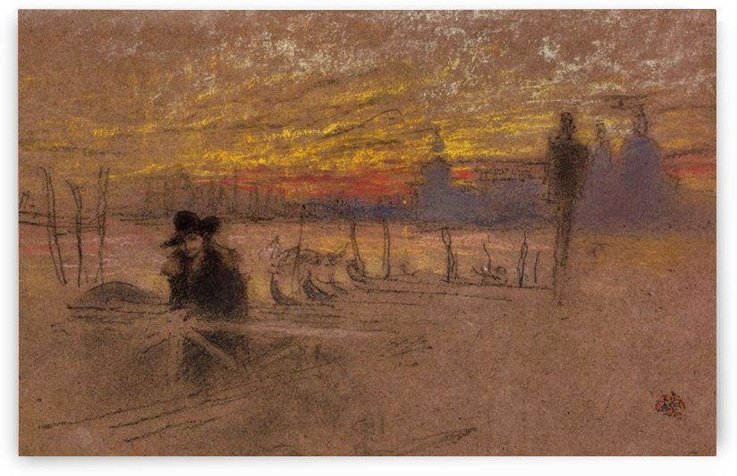 Sunset Red and Gold by Whistler by Whistler