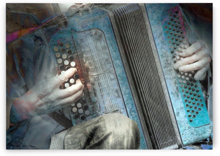 Moscou - L accordéoniste du Vieil Arbat by Jean-Louis Desrosiers