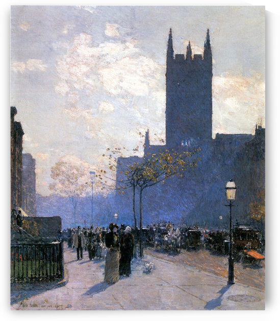 Lower Fifth Avenue by Hassam by Hassam