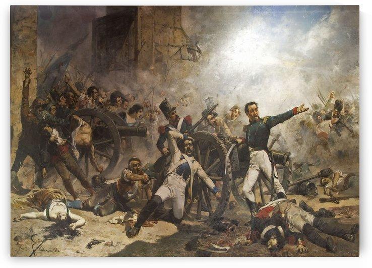 Defensa del Parque de Artilleria by Joaquin Sorolla