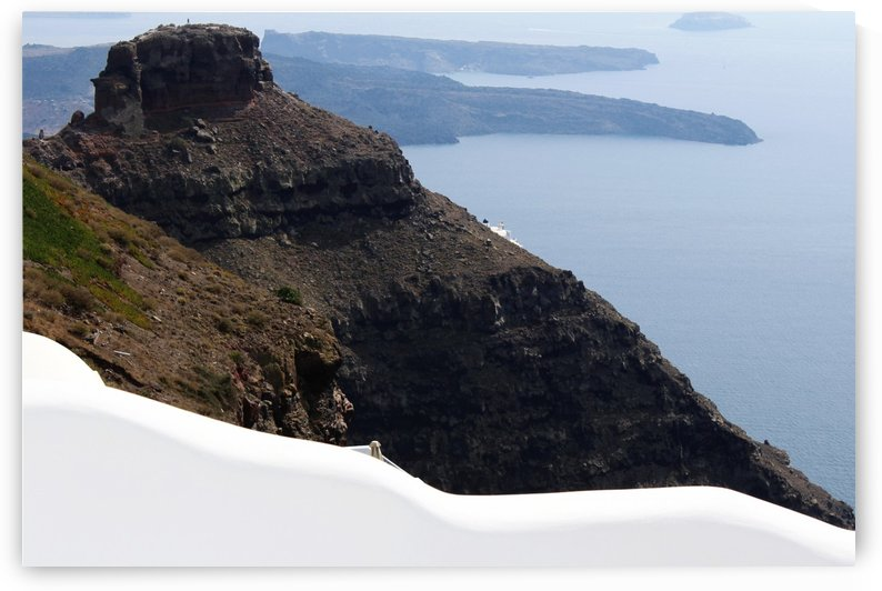 Skaros Rock - Santorini by Bentivoglio Photography