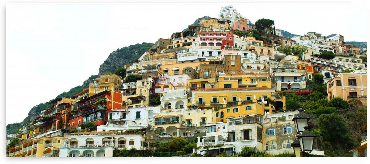 Italy Landscape - Positano Village by Bentivoglio Photography