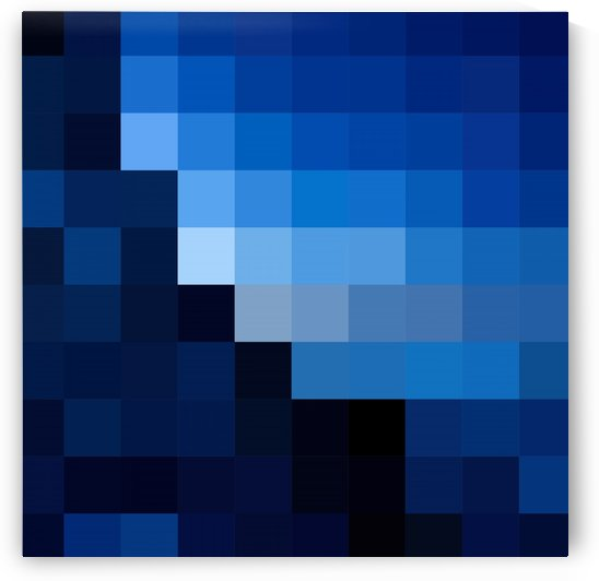 DARK BLUE MOSAIC PATTERN by rizu_designs