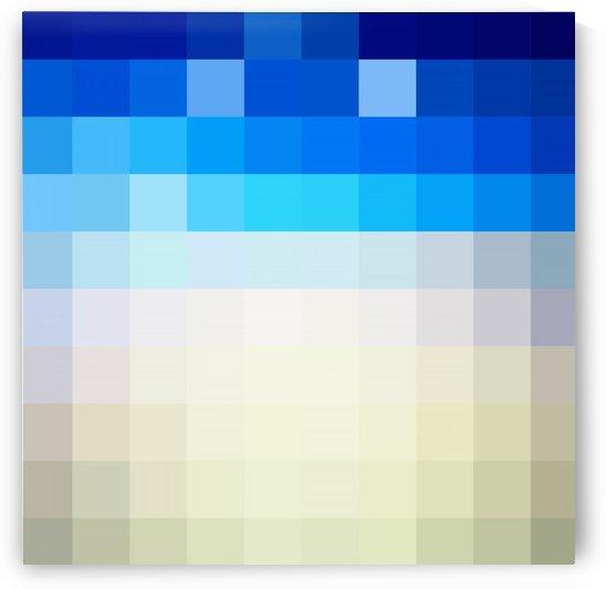 BLUISH MOSAIC PATTERN by rizu_designs