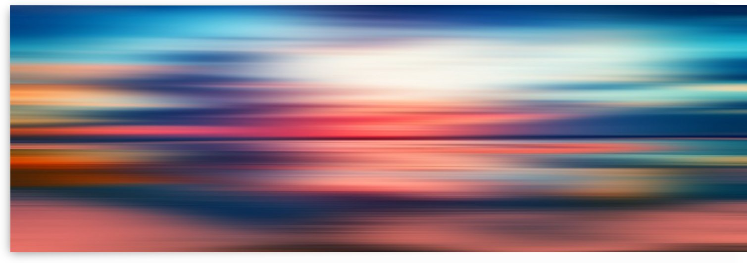 Abstract Sunset VI   Panoramic by Art Design Works