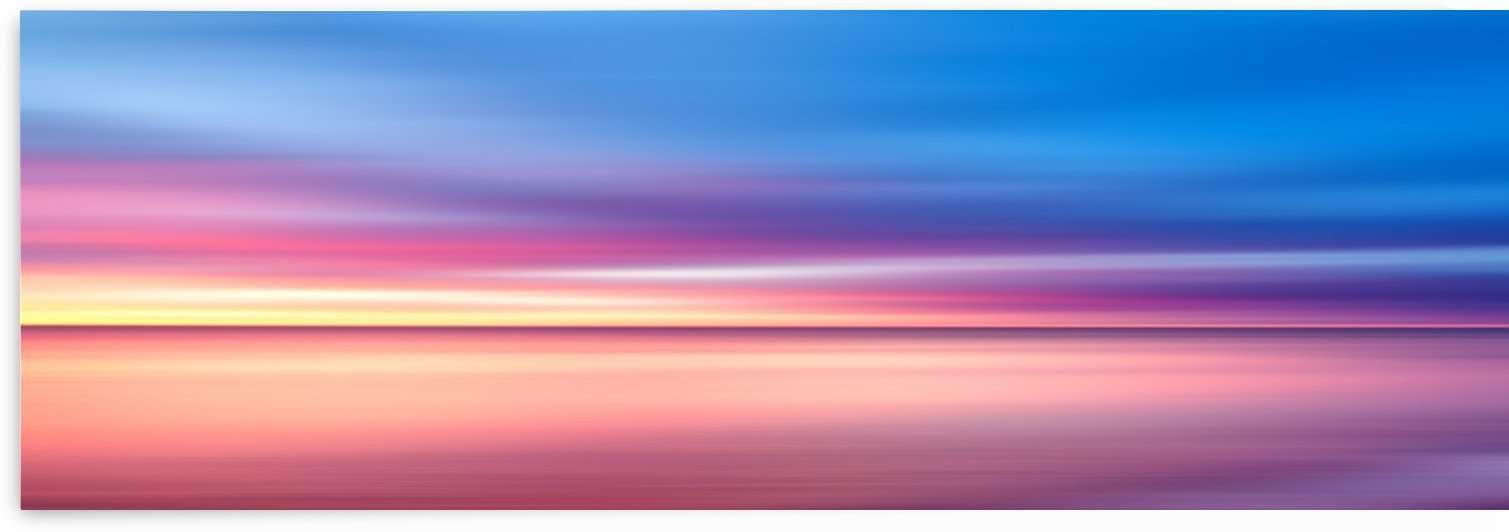 Abstract Sunset V   Panoramic by Art Design Works